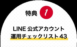 特典1:INE公式アカウント運用チェックリスト43