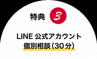 特典3:LINE公式アカウント個別相談(30分)